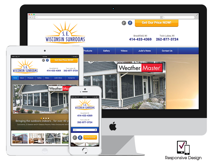 Responsive sunroom company website