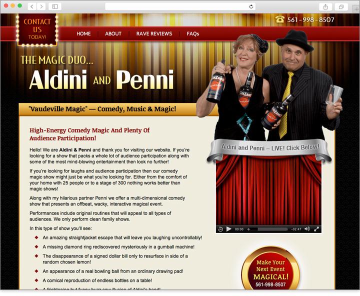 Magic website design