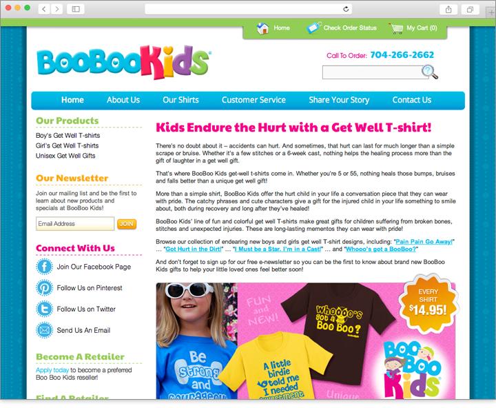 E-commerce website design for kids clothing