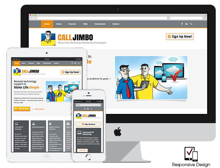 Responsive technology website