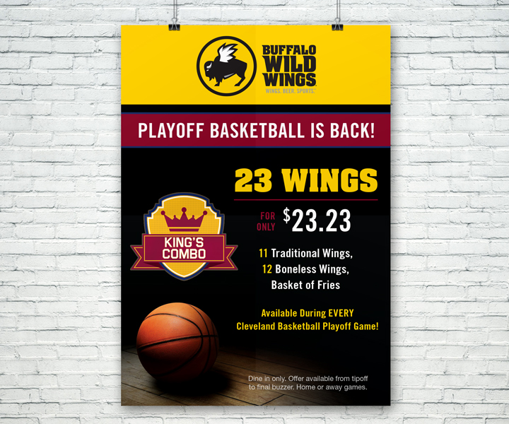 Poster design for Buffalo Wild Wings