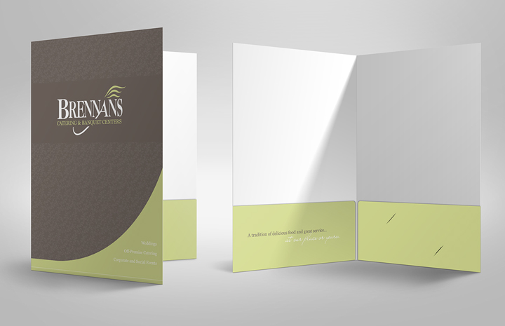 Restaurant pocket folder design