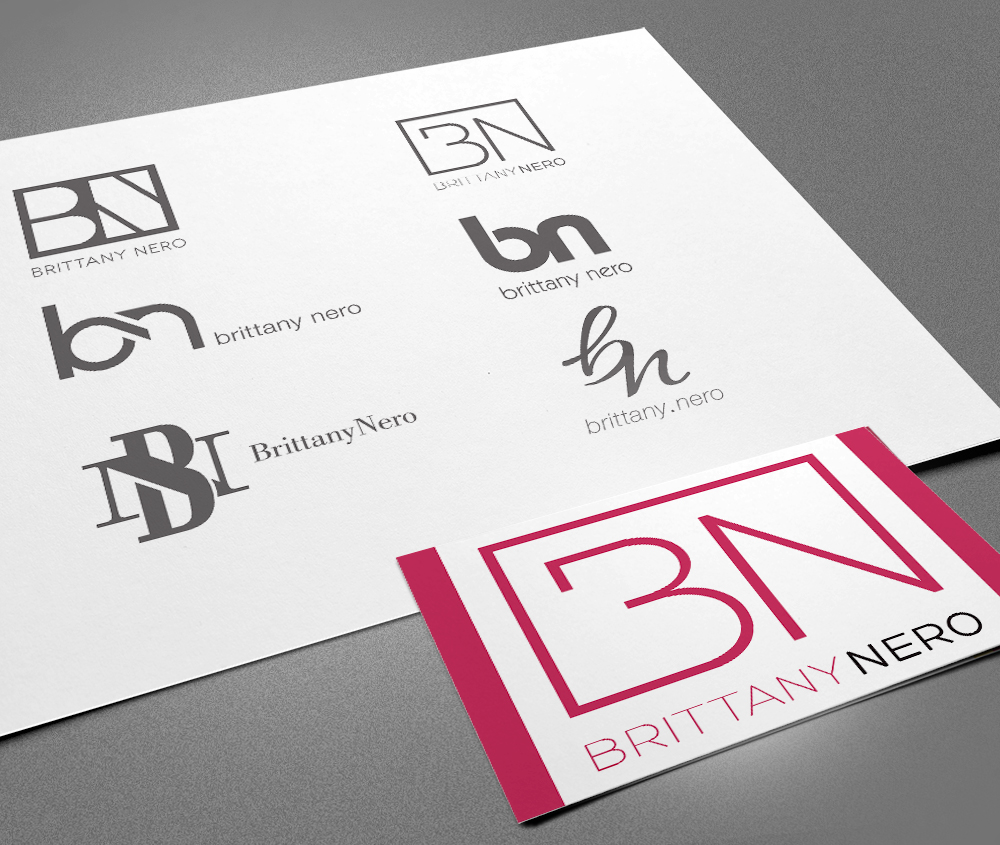 Premier designs brittany nero logo logo design concepts business card magicingreecefo Images