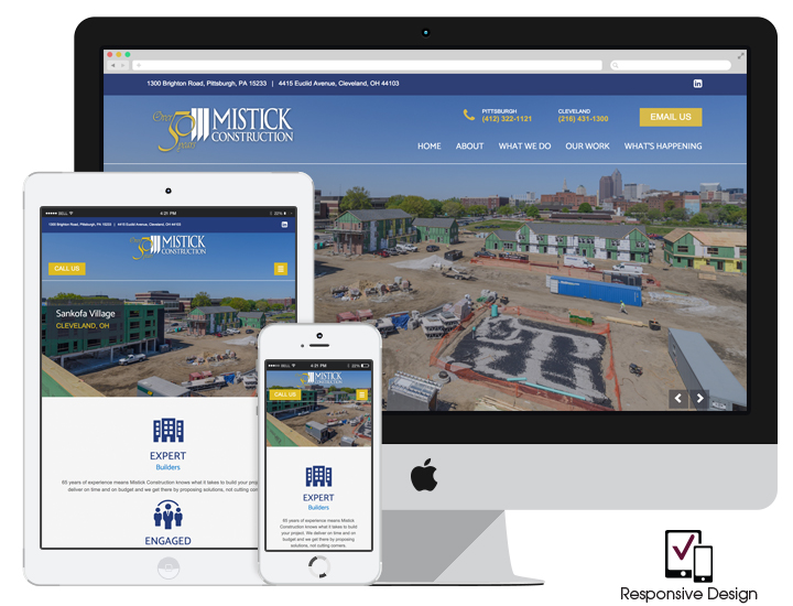Responsive Construction Website Design