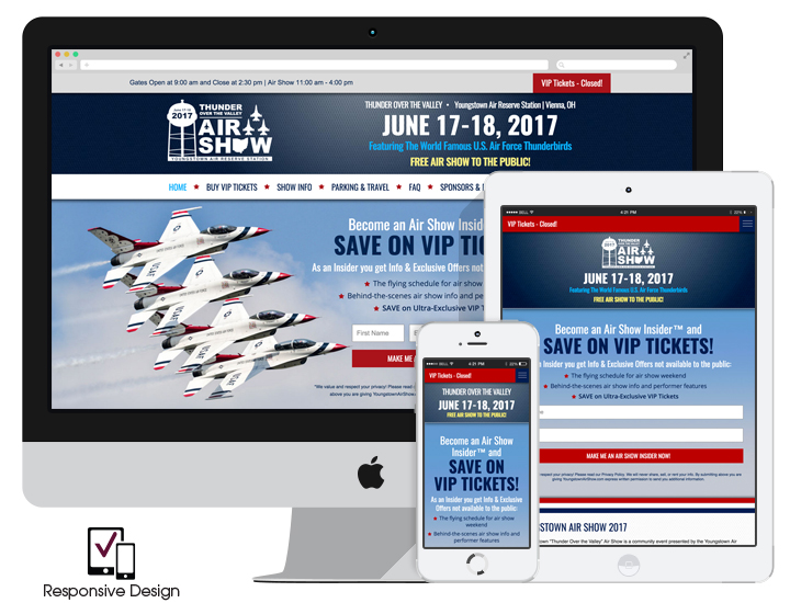 Responsive Air Show Website