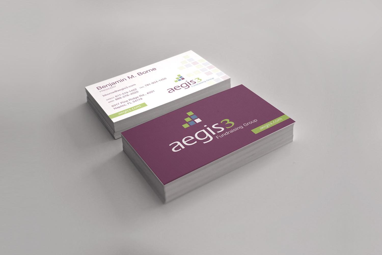 Aegis3 fundraising logo business card