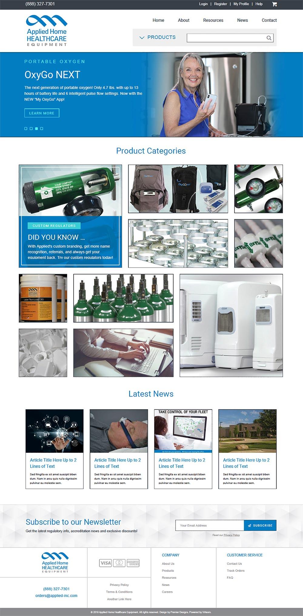 Healthcare e-commerce website design