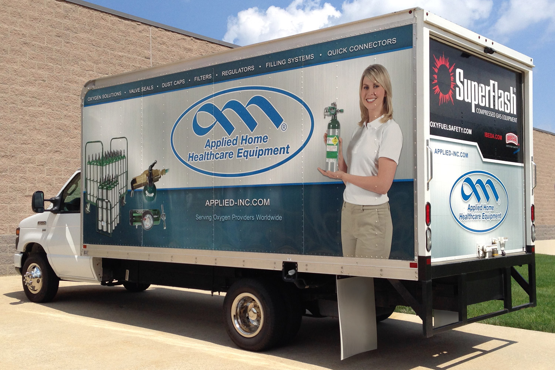 Box truck vehicle wrap design