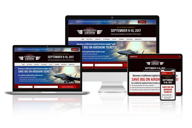 California Capital Airshow website design