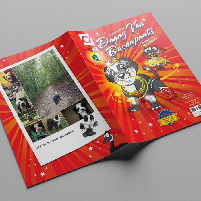 Custom Dog Comic Book