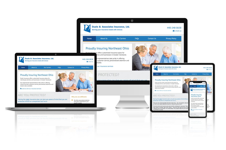 Duale Insurance website design