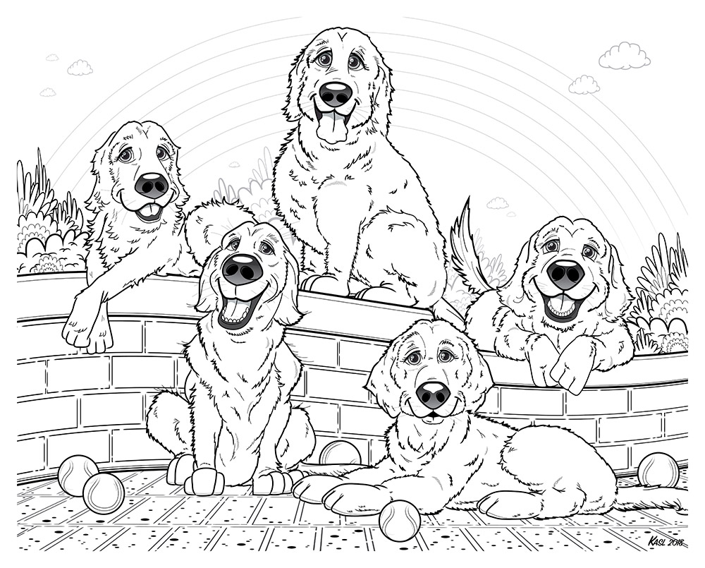 Pet memorial illustration