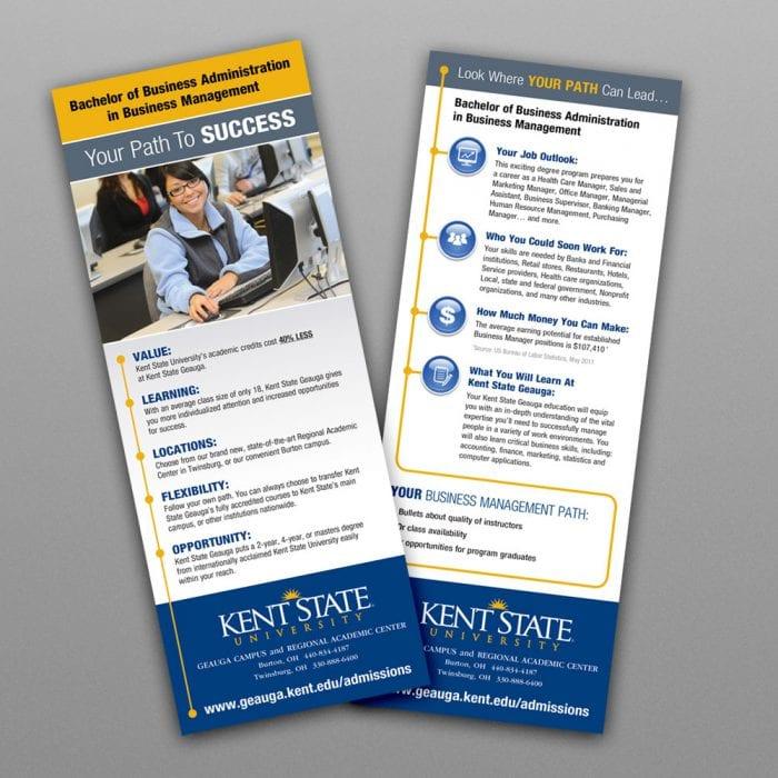 Kent State Career Path Rack Cards
