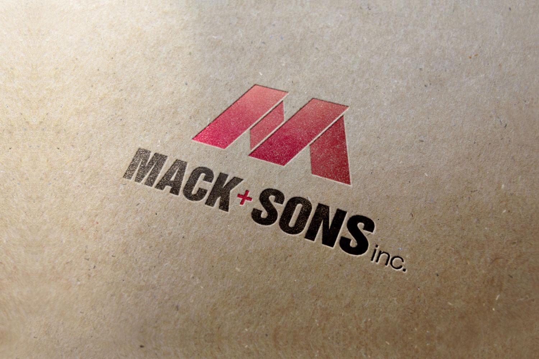 Mack & Sons construction logo
