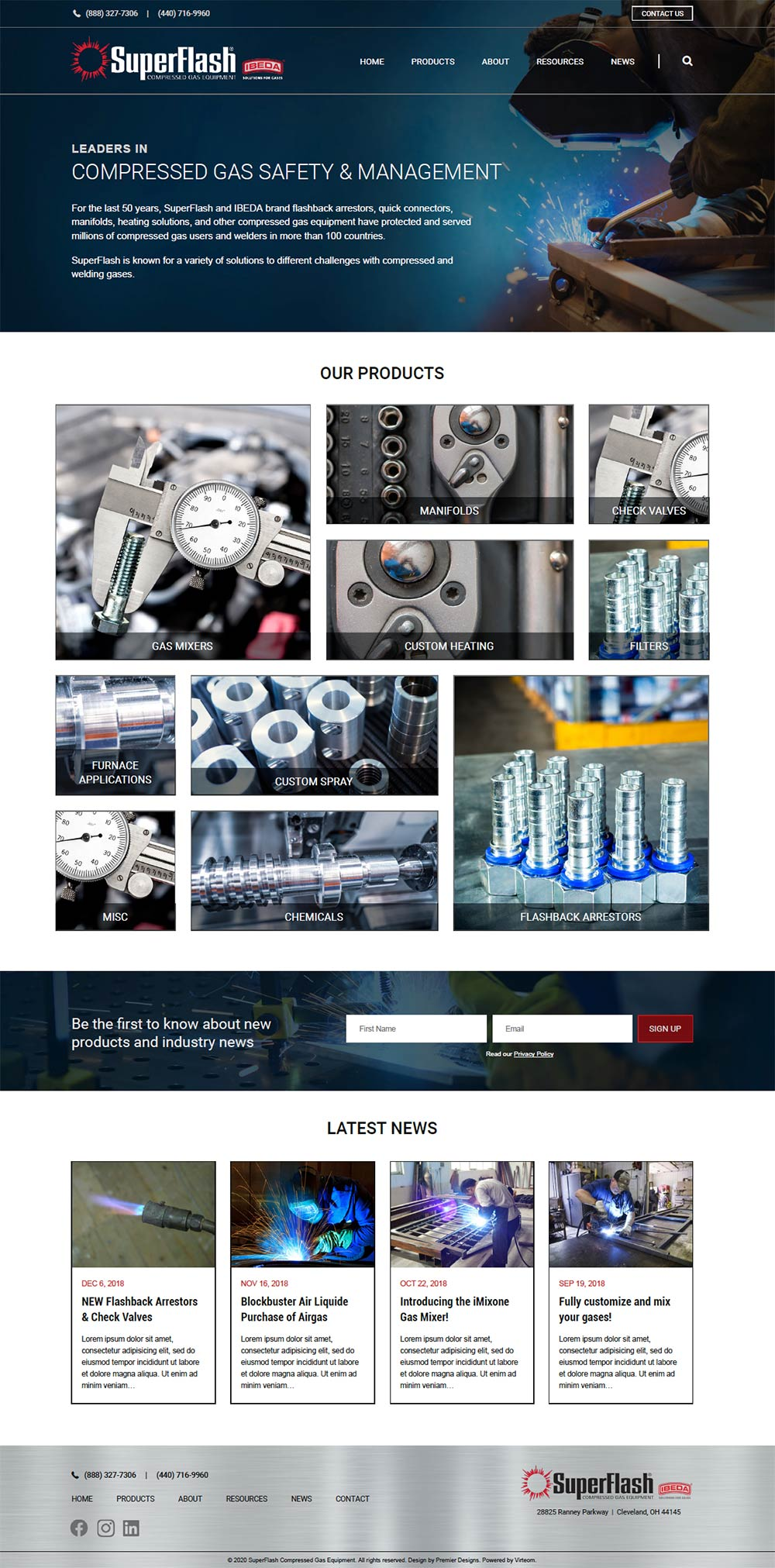 Industrial manufacturing website design