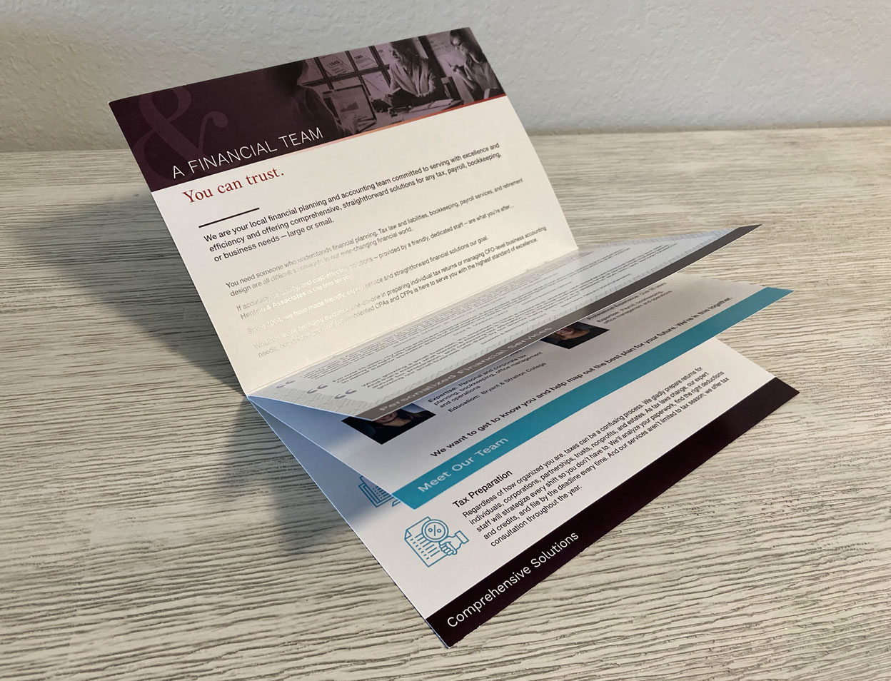Custom Accounting Firm Brochure Design