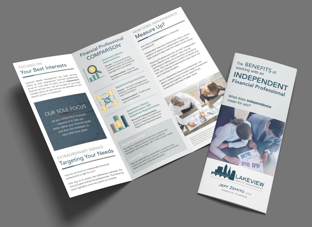 Lakeview Financial Services Trifold Brochure Design