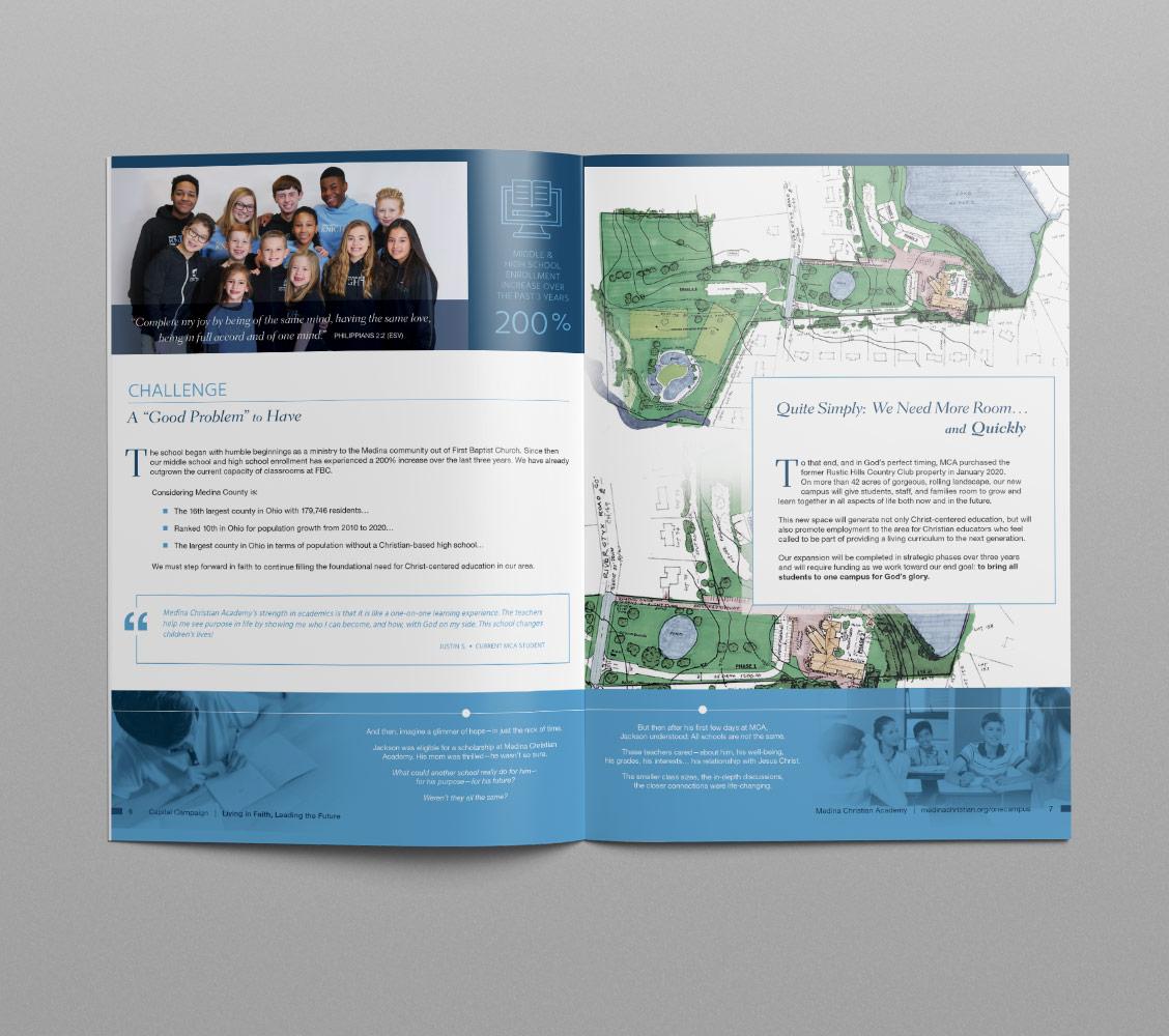 School Fundraising Brochure Design