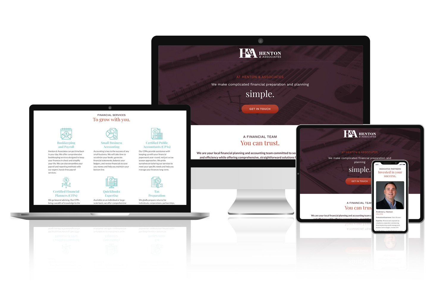 Accounting Firm Landing Page Design